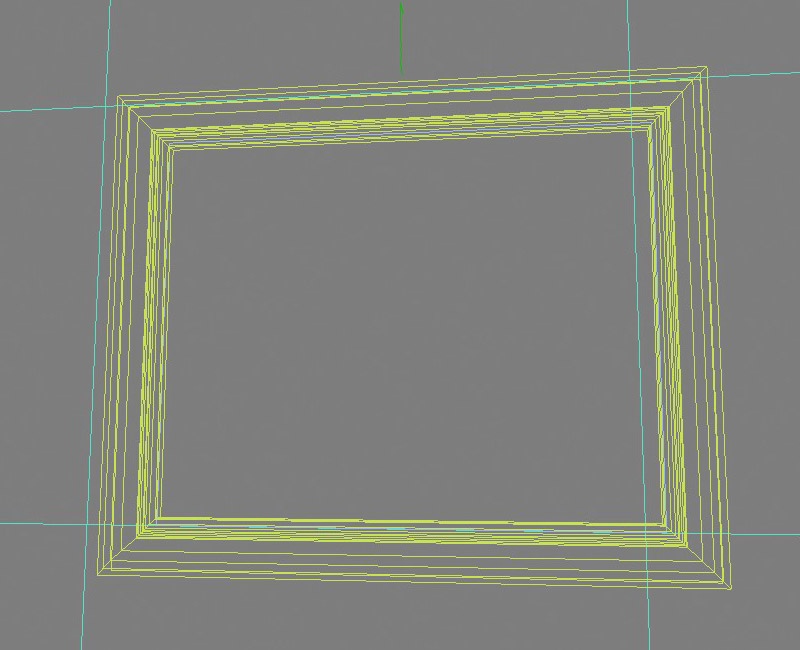 Gold picture frame (wireframe)