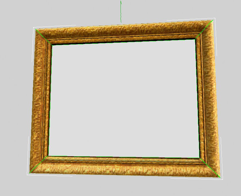 Gold picture frame (viewport)