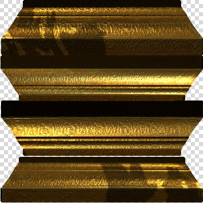 Gold picture frame (texture map)