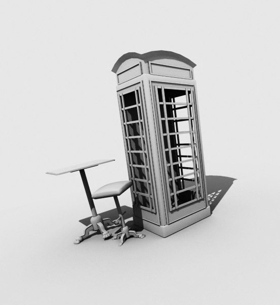 Telephone box (lighting test)